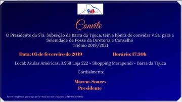 OAB BARRA DA TIJUCA | Posse da diretoria e conselho 2019 - #01