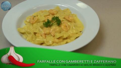 Dicas Gastronômicas com Deise Muger | Farfalle con gamberetti e zafferano