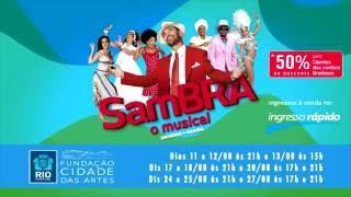 """Chamada para o musical: """"SAMBRA 100  anos de samba"""""""