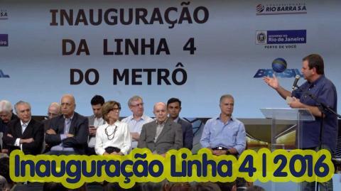 Inauguração da Linha 4 do Metrô.